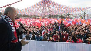 Cumhurbaşkanı Erdoğan Düzce'de halka seslendi