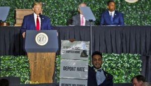 ABD Başkanı Trump'ı şoke eden protesto