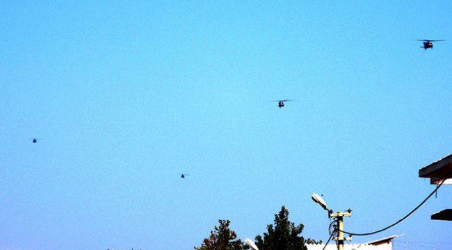 Fırat'ın doğusunda 3'üncü ortak helikopter uçuşu yapıldı