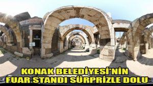 KONAK BELEDİYESİ'NİN FUAR STANDI SÜRPRİZLE DOLU