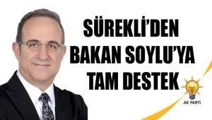 SÜREKLİ'DEN BAKAN SOYLU'YA TAM DESTEK