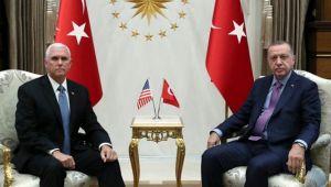 ABD'den kritik ziyaret; Erdoğan-Pence görüşmesi başladı