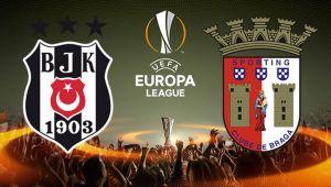 Beşiktaş - Braga maçının ilk 11'leri belli oldu