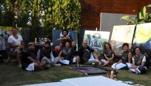 Ressamlardan çarpıcı etkinlik