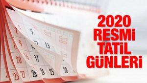 2020 Resmi tatil günleri açıklandı! 9 günlük bayram tatil olacak mı?