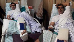 Suriye'den ateş açıldı, korkudan terastan atlayıp ayağını kırdı