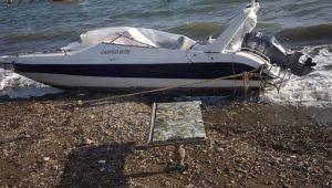 Yurt dışına gitmek için sürat teknesini çaldılar