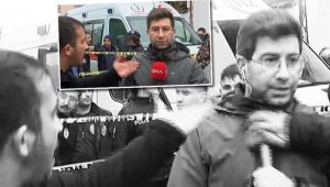 Görevi başındaki muhabire çirkin saldırı