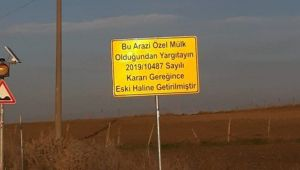 Mahkeme kararı ile sökülen asfalt yol yeniden yapıldı