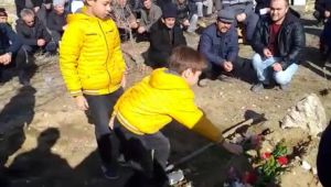 Sobadan zehirlenen Mustafa, toprağa verildi