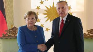 Cumhurbaşkanı Erdoğan, Merkel ile görüşüyor