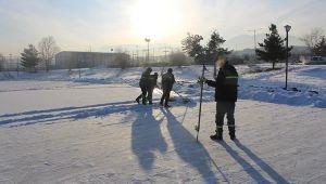 Erzurum'da Sibirya soğukları donduruyor