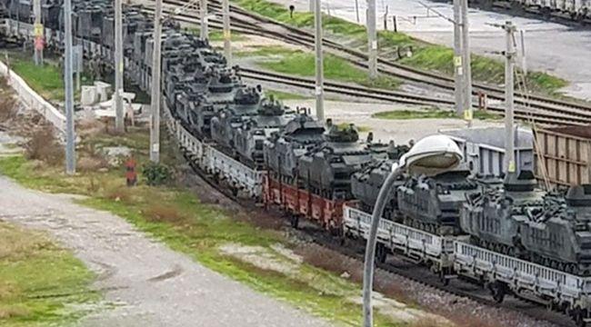 Askeri araçlar sınıra gönderildi