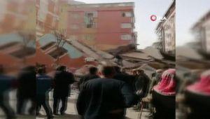 Bahçelievler'de bina çöktü
