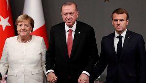 Cumhurbaşkanı Erdoğan, Merkel ve Macron ile görüştü