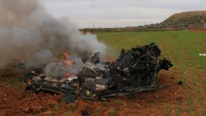 İdlib'de Esad rejiminin helikopteri vuruldu!