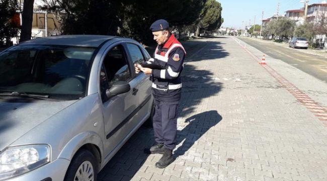 İZMİR'DE JANDARMADAN TRAFİK UYGULAMASI