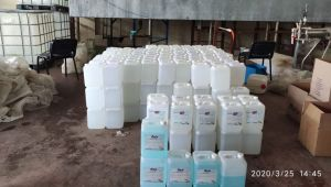 Emniyet, 2 ton 600 litre el dezenfektana el koydu