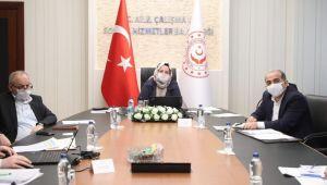 Bakan Zehra Zümrüt Selçuk Kısa Çalışma Ödeneği'ni görüştü