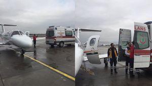 15 aylık bebek uçak ambulansla Erzurum'dan Kayseri'ye getirildi