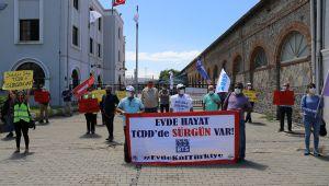 CHP'Lİ SERTEL'DEN TCDD EYLEMİNE DESTEK