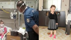 'Hani bana' diyen çocuğun isteğini polis geri çevirmedi