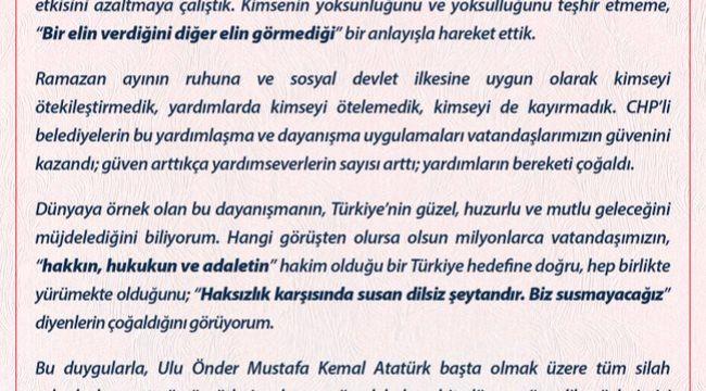 'KİMSEYİ ÖTEKİLEŞTİRMEDİK, KAYIRMADIK'