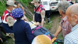Samsun'da yamaçta mahsur kalan şahıs kurtarıldı
