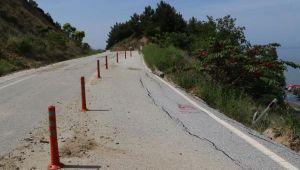 Anzak Koyu yolu trafiğe kapatıldı