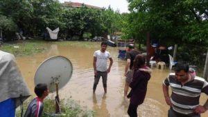 Silivri'de evleri su bastı