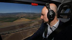 Ankara-Sivas YHT Projesini helikopter ile havadan inceledi