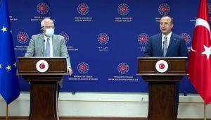 Çavuşoğlu-Borrell görüşmesi sonrası basın toplantısı