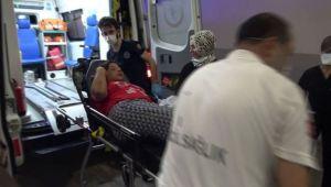 Hareket halindeki otomobilden atlayan kadın yaralandı