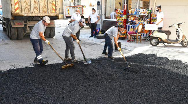 KARABAĞLAR'DA ASFALT SEFERBERLİĞİ