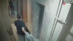 Televizyon hırsızlığı kamerada