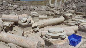 Denizli'de 2 bin yıllık umumi tuvalet, turizme kazandırılacak