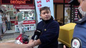 Maskesiz vatandaştan polise tehdit