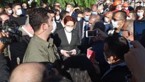 İYİ Parti Genel Başkanı Akşener, deprem bölgesinde
