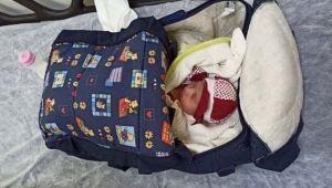 1 aylık bebek apartman önünde bulundu