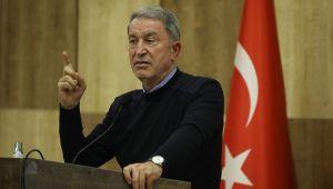 Bakan Akar'dan Libya mesajı: ' Hedef olarak görülecektir'