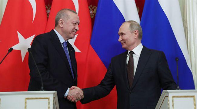 Erdoğan ve Putin, Moskova'daki üçlü zirveyi ele aldı