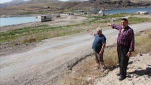 Yamula Barajı'nda su seviyesi iyice azaldı