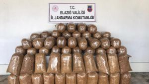Elazığ'da 426 kilo kaçak tütün ele geçirildi