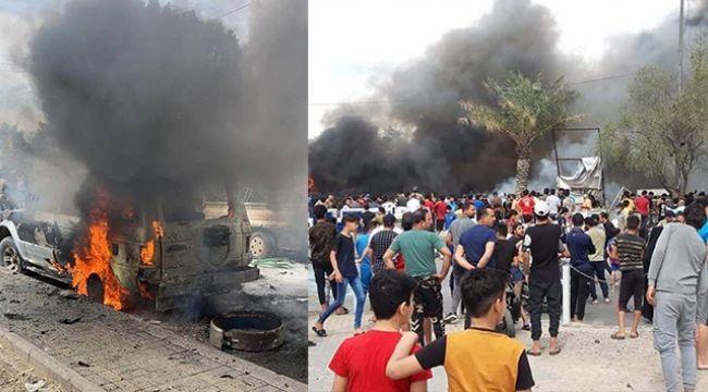 Bağdat'ta pazar yerinde bombalı araçla saldırı