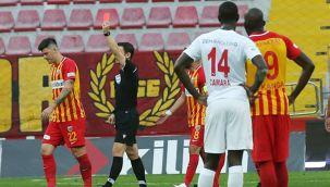 Kayserispor 7 kırmızı kart gördü