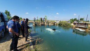 Araç kanala düştü; 2 kişinin cesedi suda bulundu