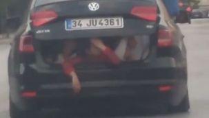 Bagajdaki çocukların tehlikeli yolculuğu
