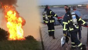 Biogaz enerji tesisinde patlama! Alevler gökyüzüne yükseldi