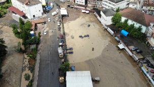 Zonguldak'taki sel felaketi havadan görüntülendi