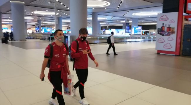 A Milli Futbol takımımız Letonya galibiyetinin ardından yurda döndü